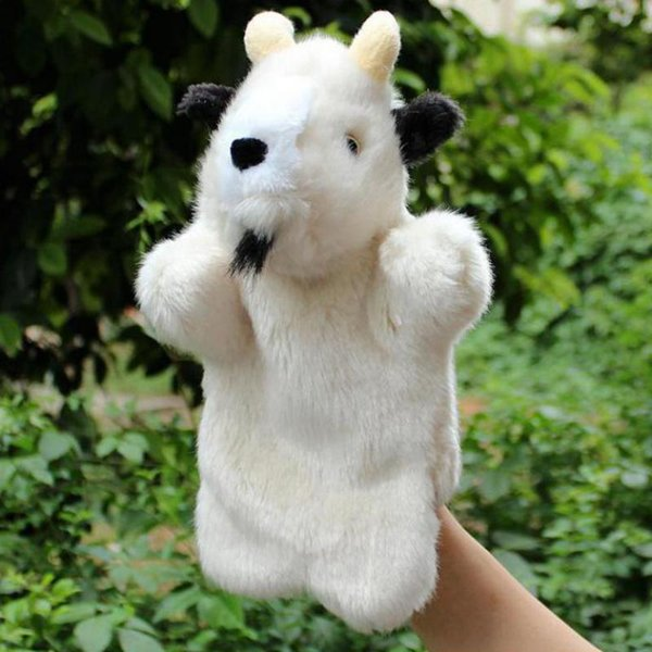 top popular Hot Sale Plush Puppet Cute Goat Stuffed Doll Hand Puppet Animal Plush Doll Toys For Kids Baby Birthday Christmas Gifts 2021