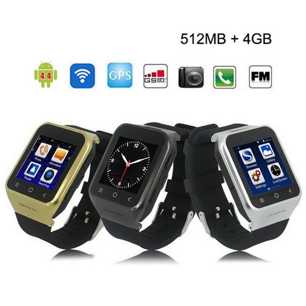 "ZGPAX S8 Smart Watch 1.54"" Android 5.1 MTK6580 Dual Core Smartwatch 3G GSM Phone Wrist Watch With GPS Wifi 2.0M Camera 1G 16GB SIM Card"