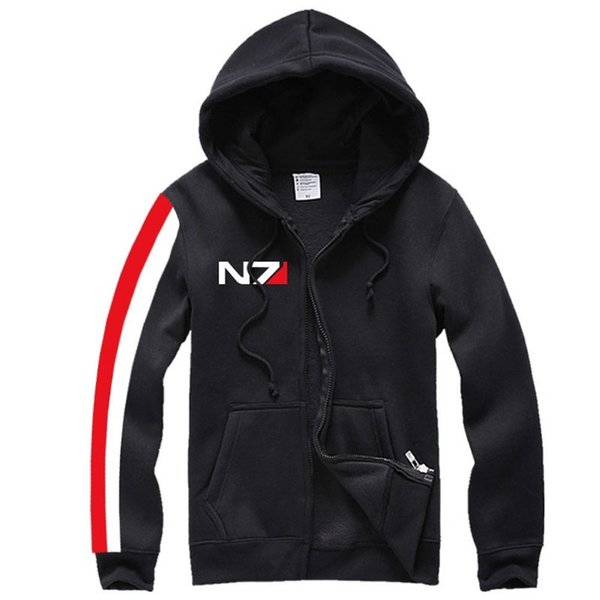 Kukucos N7 MASS EFFECT Unisexe Sweat Outwear Cosplay Costume À Capuche Top Manteau Veste Sportsuit Court Sweat à Capuche