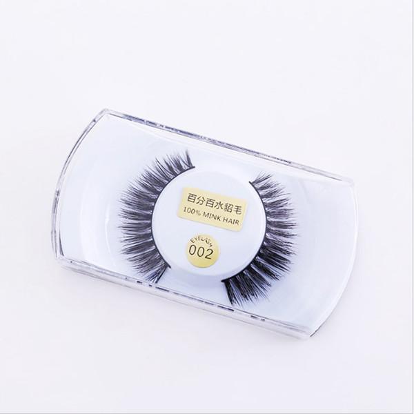 10pcs/lot 100% handmade real mink false eyelash 3D strip mink lashes thick fake faux eyelashes Makeup beauty Free shipping