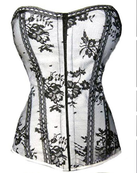 bargain sell Womens butterfly Print Sexy Lingerie Corsets Bustier+G-string size S-XXL