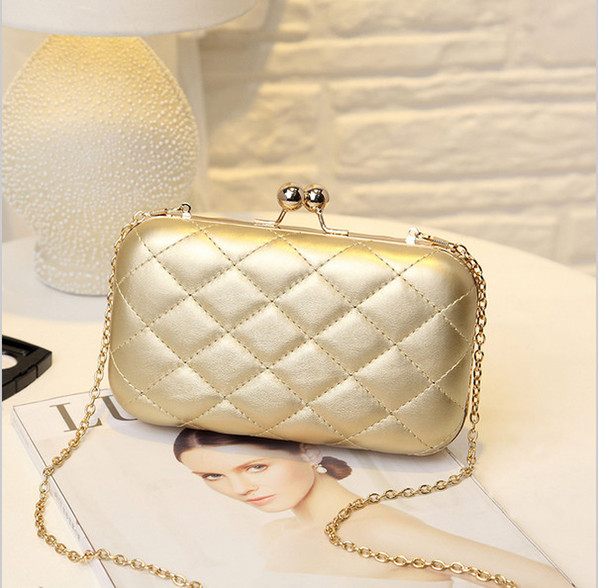 Gold Clutch Bag Women Evening Bag Plaid Handbags Women Bags ...
