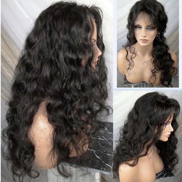 De calidad superior 5x4.5 Seda Top pelucas llenas del cordón de la onda profunda brasileña peluca llena del cordón del pelo humano peluca de seda Glueless pelucas delanteras del cordón