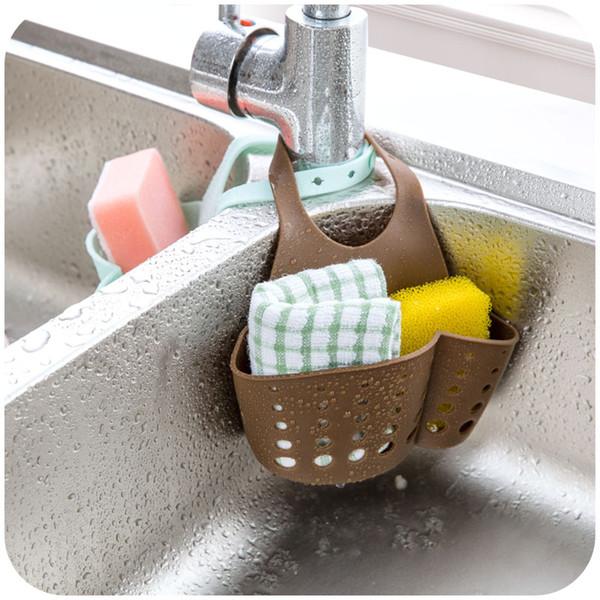 Wholesale- Hot Sale Creative Household 23*12cm Sink Plastic Drain Basket Kitchenware Storage Drain Rack Kitchen Tools Free Shipping