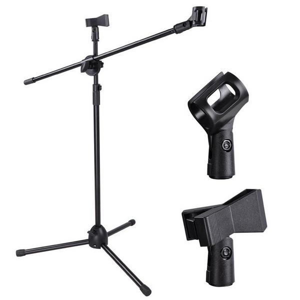 Soporte del auge del micrófono de alta calidad Soporte ajustable del sostenedor del estudio de la etapa del trípode del brazo de Micr de la altura ajustable