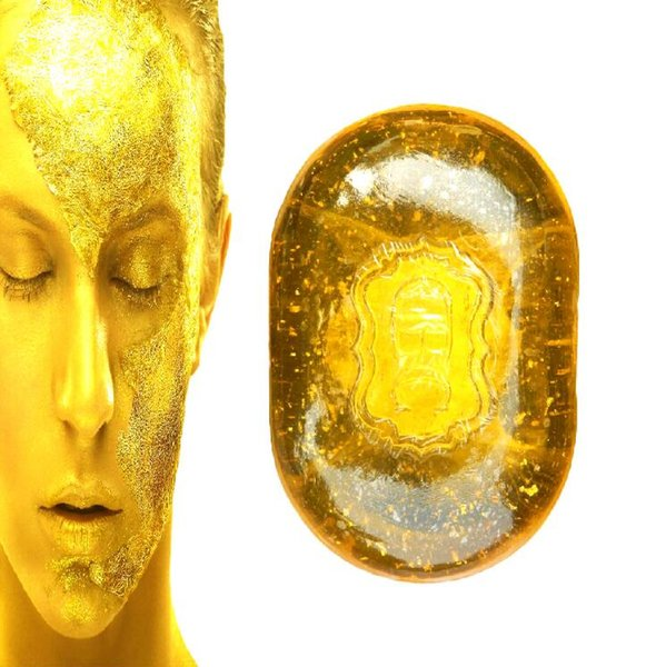 Face Care Essential Oil 24K Gold Soap Crystal Facial and Body Moisturizing Soap 120g free shipping