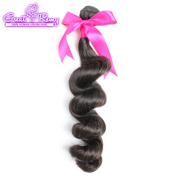 Retail 1pc 10A Double Drown Brazilian Peruvian Indian Virgin Human Hair Weave Bundles Top Malaysia Best Quality Loose Wave Greatremy Outlets