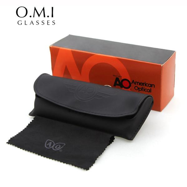 Brand New Exército MILITAR AO Americano Óptico Óculos De Sol Óculos Pacote de Caso Saco de Caixa de Pano Conjuntos de James Bond Designer de Estilo para Mulheres homens