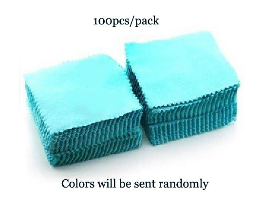 Cheapest Polish Fabric Cloth Jewelry Cleanning Flannels Fabric Jewelry Silver Cleaning Cloth, Jewellery Cleanner 100pcs