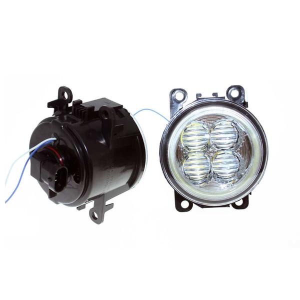 For Honda Crosstour 2013-2014 Car Styling Bumper Angel Eyes LED Fog Lamps DRL Daytime Running Fog Lights OCB Lens car light