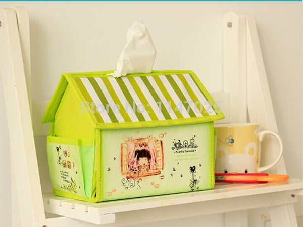 Toptan-yaratıcı sevimli küçük ev köri şeker evi doku kutusu çıkarma kutusu 17.5X15X12 CM ücretsiz kargo