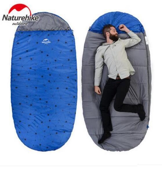 Vente en gros- Naturehike Sac de couchage gonflable en plein air Multifuntional Camping Sac de couchage Enveloppe d'hiver Capuche Voyager Sacs de couchage