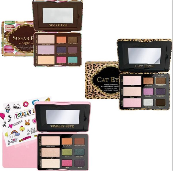 Makeup eyeshadow palette sugar pop cat eyes totally cute faced sweet peach eye shadow cosmetics 1 set 9 colors free shipping dhl