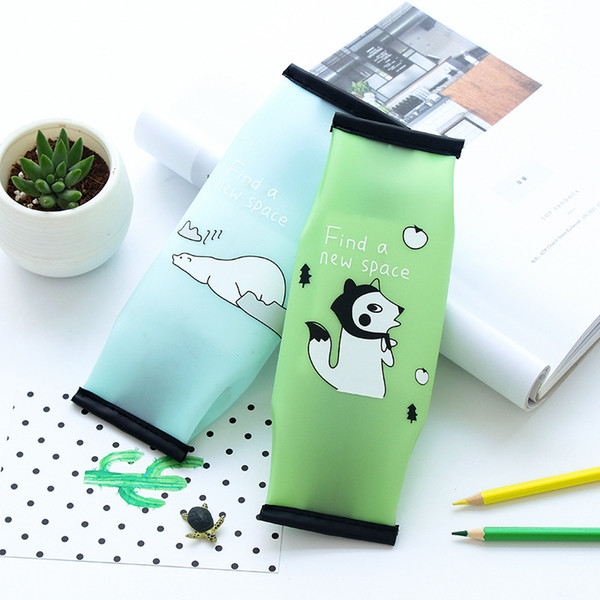 South Korea creative student fashion stationery jelly pen pencil case bag for containing high school students learning activities pencil bag