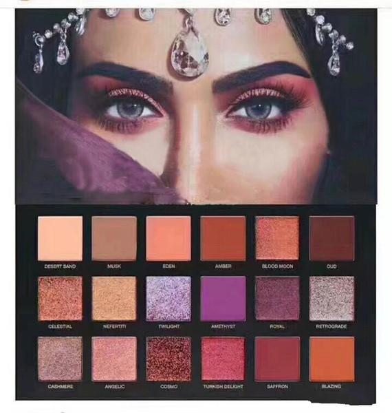 Güzellik ÇEKME DUSK Göz Farı 18 renkler Pallete Pırıltılı Mat Göz farı Pro Gözler Makyaj Kozmetik ücretsiz DHL