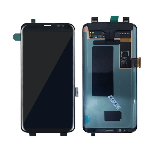 For Samsung Galaxy S8 edge plus lcd G955 G955F G955A G955FD G955P G955S S9 edge plus LCD display touch screen Digitizer gold free shipping