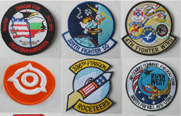 Customized Embroidery Patch iron or sew on back DIY badge fashionable mixed assorted clothing patch Applique garment