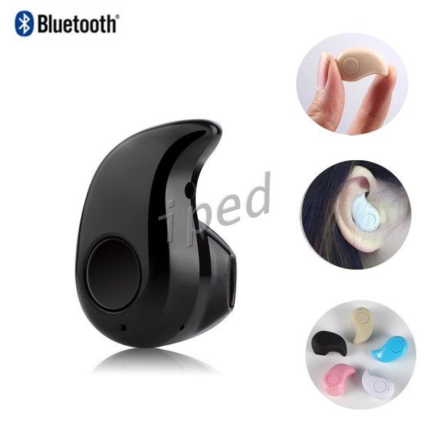 S530 Mini Bluetooth Écouteur Iphone 7 Stéréo Lumière Sans fil Invisible Casque Super Casque Musique répondre à appel avec boîte en cristal pas cher 50pc
