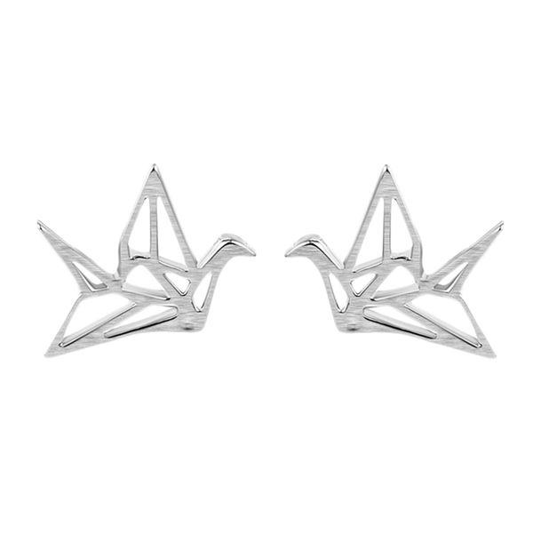 5 pairs/lot Korean Cheap Papercranes Cool Hollow Out Fancy Ear Stud Earrings Women Girls Wholesale Fashion Jewelry Bijouterie China