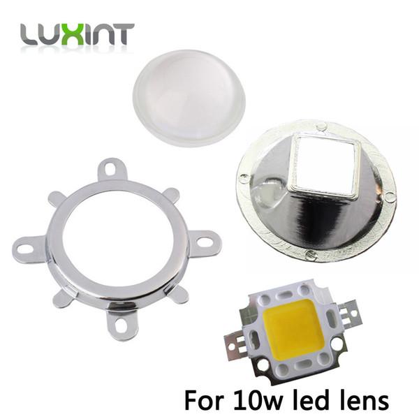 Toptan Satış - Toptan-1set 10w led lens kare led reflektörler modülü 57mm Yansıma fincan + 57mm lens + tutucu için 10 w kare koçanı ledleri