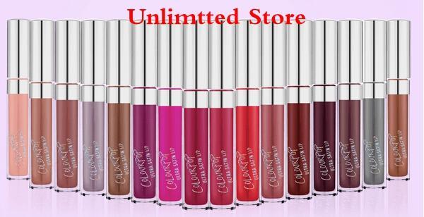Wholesale-New 12PCS/LOT COLOURPOP ULTRA MATTE LIPSTICKS 12 Colors Colourpop Liquid Lipstick Makeup 8G Long Lasting Colour pop lips gloss