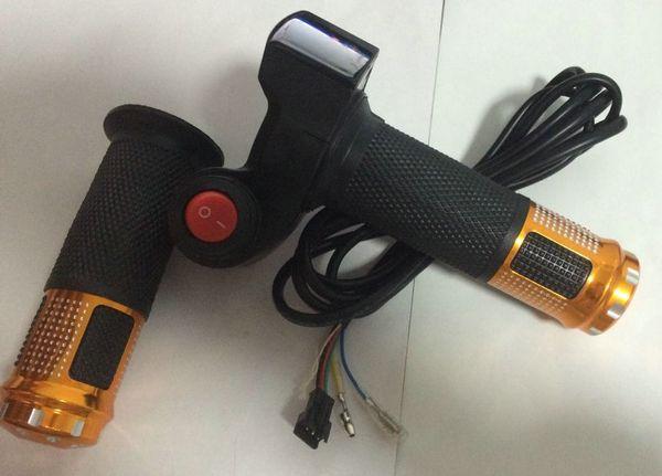 Accélérateur à torsion 12-100v pour tricycle électrique à vélo avec scooter led indicateur lumineux corne interrupteur marche-arrêt poignée