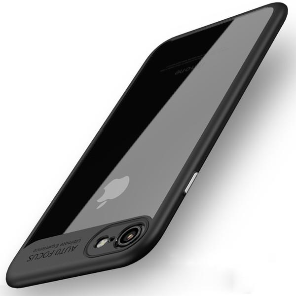 2017 yeni Kristal Jel Ultra-Ince kılıf şeffaf Yumuşak TPU PC 2 1 iphone6 için kapak / 6 S iphone7 artı