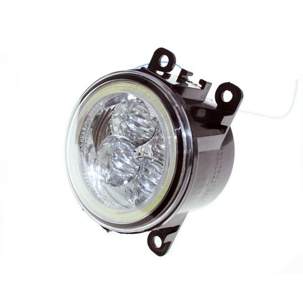 For Jaguar S-Type / X-Type 2004-2007 2008 Car Styling Bumper Angel Eyes LED Fog Lamps DRL Daytime Running Fog Lights OCB Lens car light
