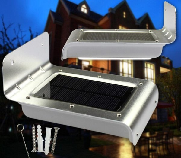16 LED Solar Powered Panel LED Street Light Solar Sensor Lighting Outdoor Path Wall Emergency Lamp Security Spot Light Luminaria FREE SHIP