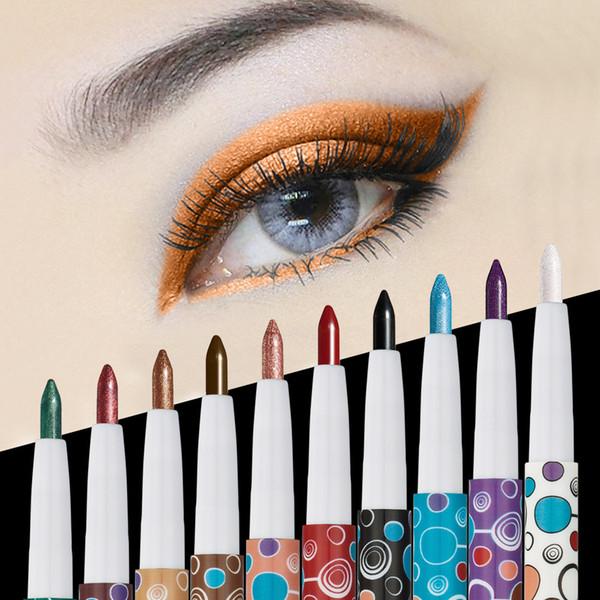HUAMIANL Eye Shadow Pencil Pigment Kit Waterproof Shimmer and Matte Huamianli Eyeshadow Pencil 10 Color Eyeshadow Palette eyes Cosmetics