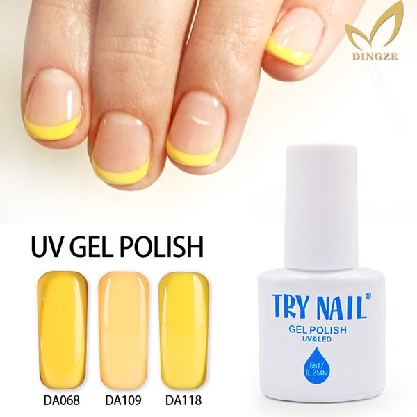 Wholesale Try Nail Nail Gel Polish Uv Led Gel Lamp 151 Shiny Yellow ...