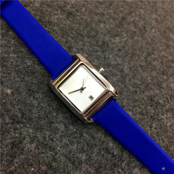 Las mujeres de la esfera cuadrada miran el regalo del reloj del reloj de la señora de la pulsera del cuero genuino para las muchachas El precio al por mayor libera el envío 15pcs DHL libera
