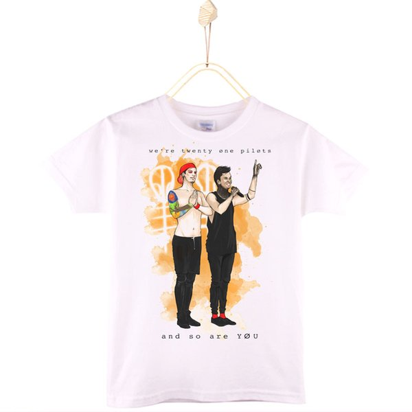2017 Hot Sale Children T Shirts 100% Cotton Rock Band Twenty One Pilots Kids T-shirt Boys Baby Clothes Girls Tops Child Shirt Free Shipping