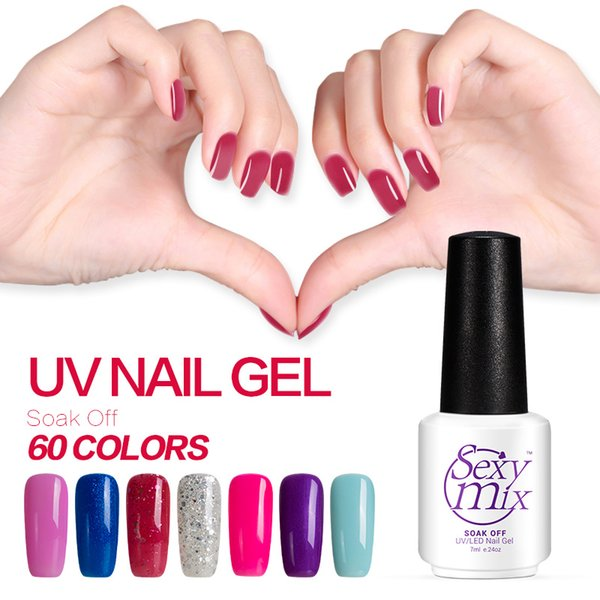 Wholesale-Sexy mix 7ML Natural Safe Colorful Gel Polish Long Lasting Soak off UV Gel Nail Polish The Best Colorful Nail Gel for Daily Use