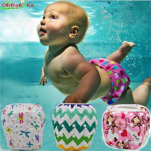 Baby Boys Girls Swim Diaper Unisex Training Pants Cute Cartoon Toddler Swimming Nappies Swimwear Ultimate Snap Swim Diaper
