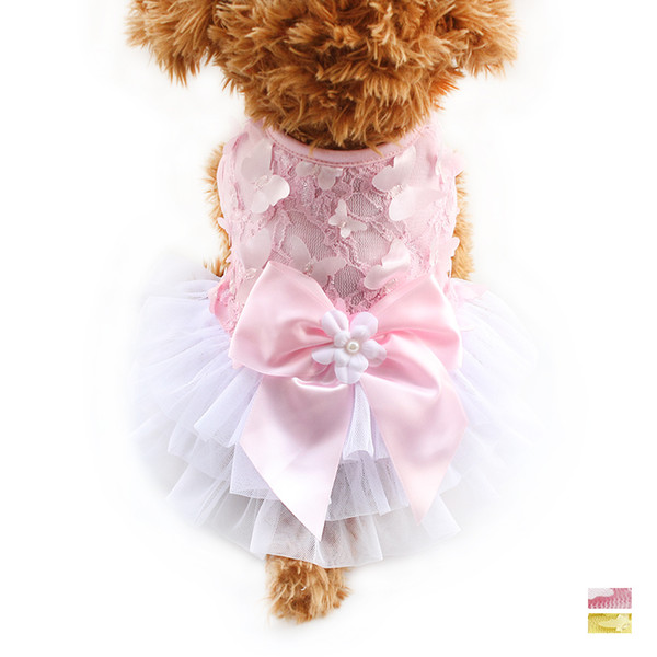 armipet Cute Fluffy Ribbon Butterfly Decoration Gauze Dog Dresses Dogs Princess Dress 6071067 Pet Summer Clothes