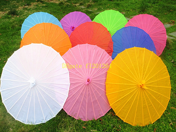 best selling 100pcs lot Free shipping Small & big Chinese colorful Umbrella China traditional dance color parasol Japanese silk props