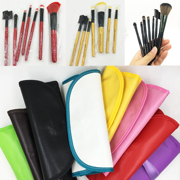 7 Make-up Pinsel Make-up Pinsel Set Kits Wimpernbürste Rougepinsel Lidschattenpinsel Make-up-Werkzeuge mit PU-Beutel