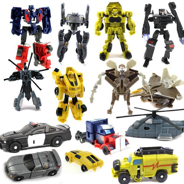 Hot Sale New Arrive Transformation Plastic Robot Vehicle Kids Boys Block Action Figures Toy Gift