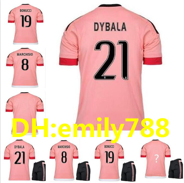 2015 16 old pink juv legion jer ey dybala occer jer ey chiellini pogba marchi io pirlo higuain alex and coppa italia football hirt
