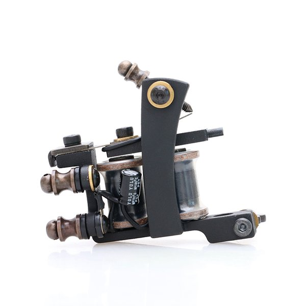 HOT SALE! New Style High Quality Tattoo Liner Black Tattoo Machine 10 Coils Tattoo Supply TM462