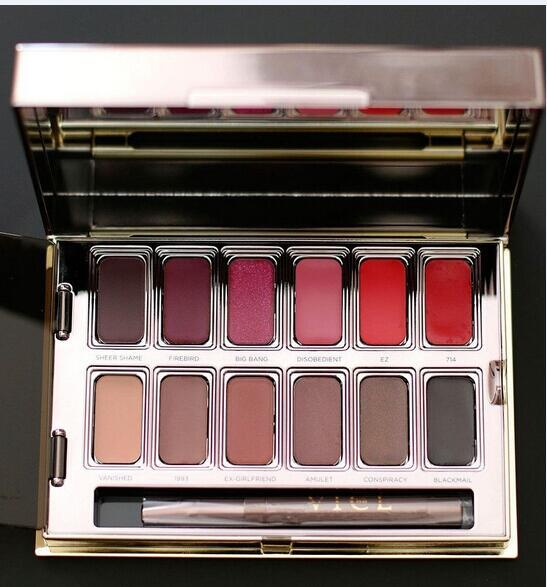 Newest Makeup Palette BLACKMAIL VICE Lipstick Palette 12 colors In Box DHL free VICE Cosmetics
