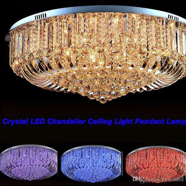 Frete Grátis de Alta Qualidade New Modern K9 de Cristal LEVOU Lustre de Luz de Teto Lâmpada de Iluminação 50 cm 60 cm 80 cm