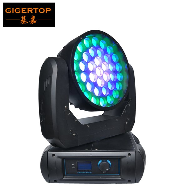 Manufacturer Direct Sell 37x12W Cree RGBW 4IN1 Led Moving Head Wash Zoom Light 500W DMX512 Control 22 Channels Super Smooth Wash TP-L675