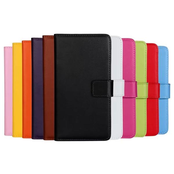Echtes Leder-Mappenkasten für Rand-Kreditkarte Samsungs-Galaxie S5 S6 Rand-S7 mit Stand-Schlag-Abdeckungs-Fall für Galaxie A3 A5 A7 2016