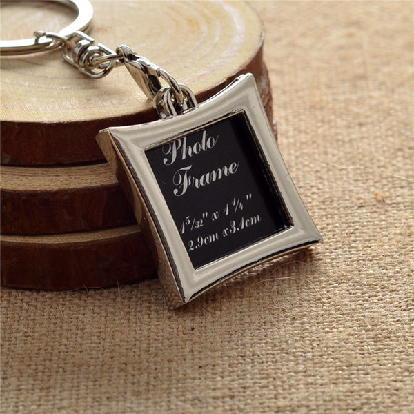Wholesale Vogue Insert Photo Picture Frame Custom Keyring Key Ring Keychain Lover DIY Gift high quality free shipping