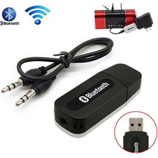 Kit de récepteur de musique stéréo Bluetooth Dongle Récepteur de Bluetooth sans fil USB avec jack 3,5 mm Câble audio pour smartphones