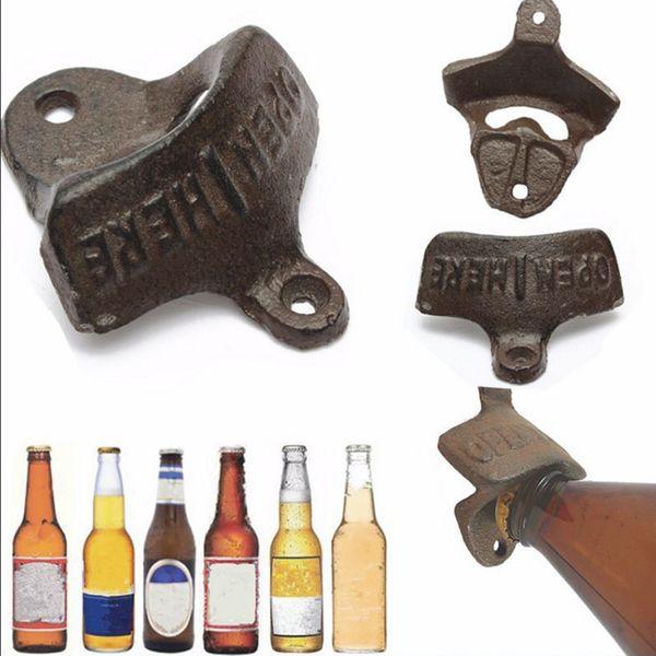 Vintage Antique Style Bar Pub Beer Top Bottle Cap Opener Wall Mount Kitchen MD1337
