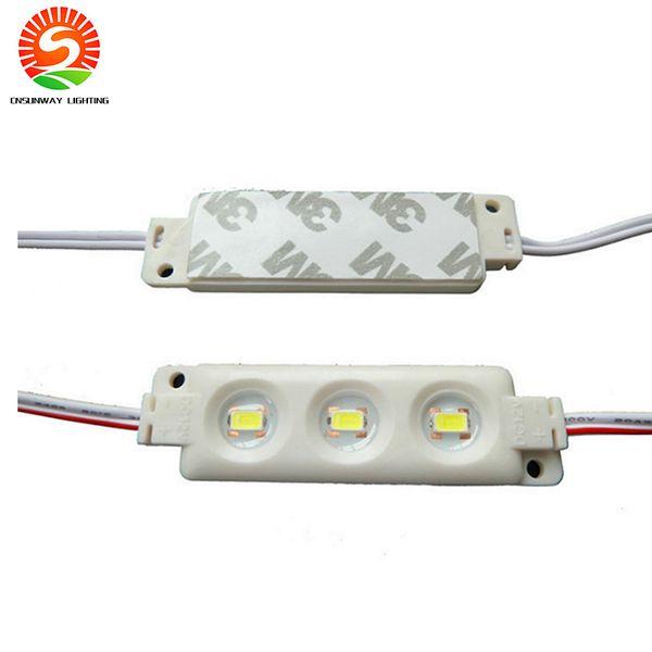 Arka Işık LED Modülleri Enjeksiyon ABS Plastik 1.5W RGB Led Modülleri Suya Dayanıklı IP65 3LED'ler 5050 5630 Led Vitrin Lambası