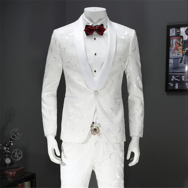 2017 Latest Pant Designs Suit Men White Wedding Tuxedos For Men ...